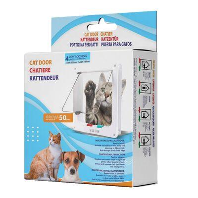 Miapet - Miapet Kedi Köpek Kapısı 4 Yollu 25x23,5x5 cm Kahverengi