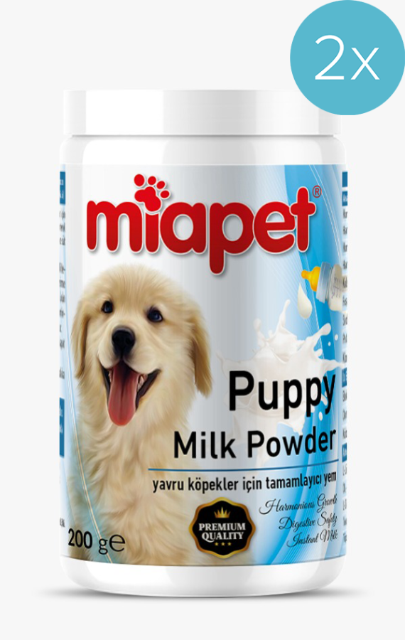 Miapet Kutulu Puppy Milk Powder Yavru Köpek Süt Tozu 200 Gr 2'Lİ