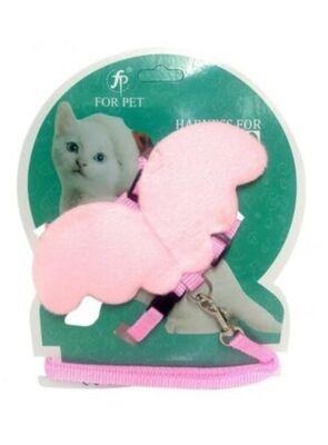 Miapet - Miapet Melek Kanatlı Kedi Göğüs Tasması Pembe