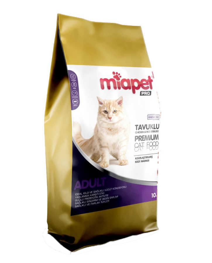Miapet Pro Tavuklu Kısırlaştırılmış Kedi Maması 10 KG