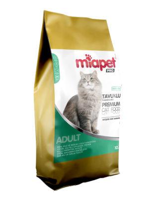 Miapet - Miapet Pro Tavuklu Yetişkin Kedi Maması 10 KG