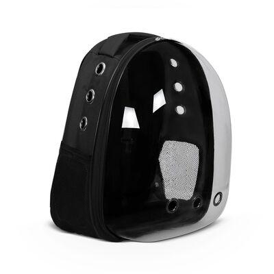 Miapet - Miapet Şeffaf Astronot Kedi Köpek Taşıma Çantası 42x22x33 Cm Siyah