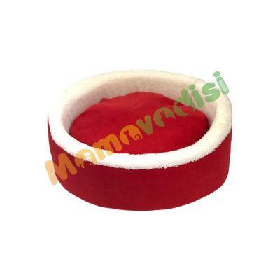 Miapet - Miapet Sepet Kedi Köpek Yatağı Kırmızı 50 Cm