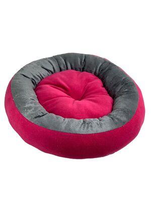 Miapet - Miapet Simit Kedi-Köpek Yatağı 50 cm Fuşya-Gri