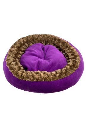 Miapet - Miapet Simit Kedi-Köpek Yatağı 50 cm Mor-Kahve