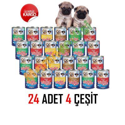 Miglior Gatto - Miglior Gatto Köpek Konservesi 24 Adet KARMA KOLİ
