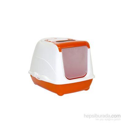 Moderna - Moderna Flip Cat Filtreli Kapalı Kedi Tuvaleti TURUNCU