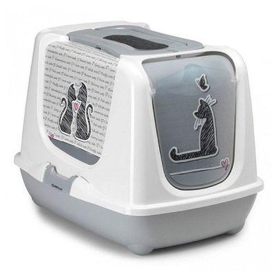 Moderna - Moderna Trendy Love Filtreli Kapalı Kedi Tuvaleti 50 Cm