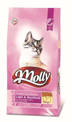 Molly - Molly Light Sterilised Tavuklu Kısırlaştırılmış Kedi Maması 15 KG