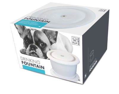 Mpets - Mpets Otomatik Köpek Su Sebili Beyaz 3000 Ml