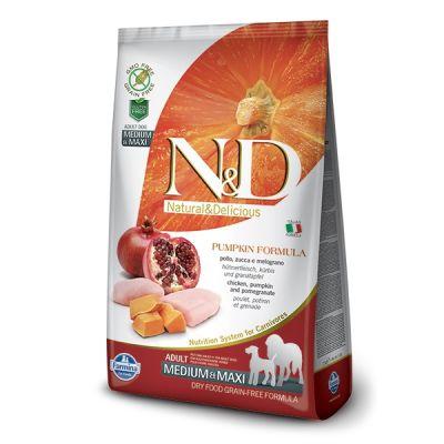 N&D - N&D Balkabaklı Tavuklu Medium Maxi Yetişkin Köpek Maması 12 Kg