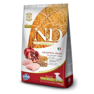 N&D - N&D Düşük Tahıllı Tavuklu Küçük Irk Yetişkin Köpek Maması 7 kg