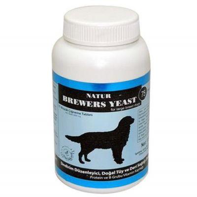 Natur - Natur Brewers Yeast Köpek İçin Sarımsaklı Maya Büyük 75 Tableti