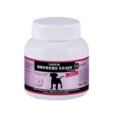 Natur - Natur Brewers Yeast Köpek İçin Sarımsaklı Maya Tableti 150 Tablet