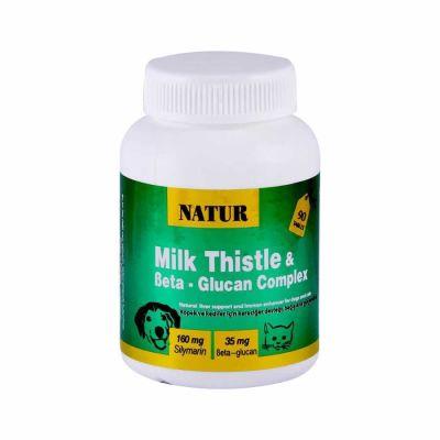 Natur - Natur Milk Thistle Beta Glukan Destekleyici Kedi Köpek 90 tablet