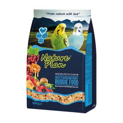 Nature Plan - Nature Plan Meyve Aromalı ve Ballı Muhabbet Kuşu Yemi 500 g