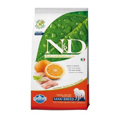 N&D - N&D Tahılsız Balıklı Portakallı Büyük Irk Yetişkin Köpek Maması 12 KG