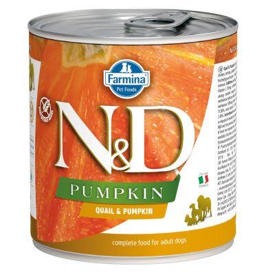N&D - N&D Balkabaklı Bıldırcınlı Köpek Konserve Maması 285 gr