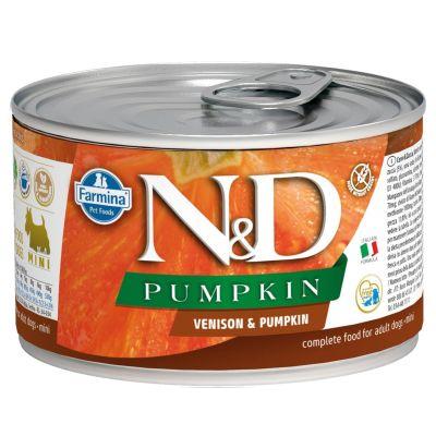 N&D - N&D Balkabaklı Geyikli Köpek Konservesi 140 gr