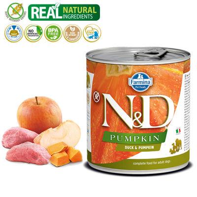 N&D - N&D Balkabaklı Ördekli Köpek Konserve Maması 285 gr