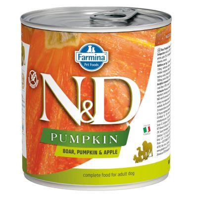 N&D - N&D Balkabaklı Yaban Domuzlu Köpek Konserve Maması 285 gr