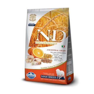 N&D - N&D Düşük Tahıllı Balık Portakallı İri Irk Yetişkin Köpek Maması 12 KG
