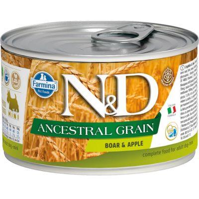 N&D - N&D Düşük Tahıllı Domuzlu Elmalı Köpek Konserve Maması 140 gr