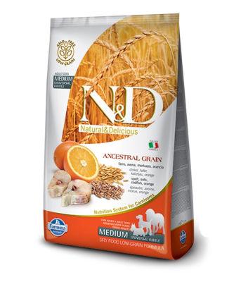 N&D - N&D Düşük Tahıllı Balıklı Portakallı Yetişkin Köpek Maması 2,5 Kg