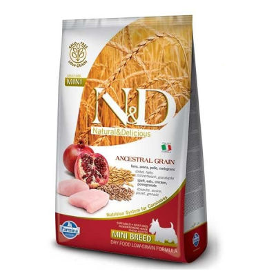 N&D - N&D Düşük Tahıllı Tavuklu Narlı Küçük Irk Yetişkin Köpek Maması 2,5 Kg