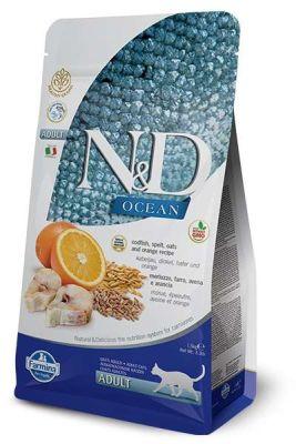 N&D - N&D Ocean Düşük Tahıllı Morina Balığı Portakal Kedi Maması 1,5 Kg