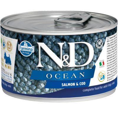 N&D - N&D Ocean Somon ve Morina Balıklı Köpek Konservesi 140 gr