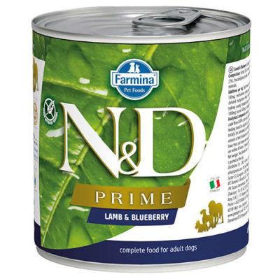 N&D - N&D Prime Tahılsız Kuzulu Yaban Mersinli Köpek Konservesi 285 gr