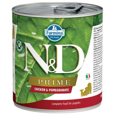 N&D - N&D Prime Tahılsız Tavuklu ve Narlı Yavru Köpek Konservesi 285 gr