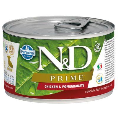 N&D - N&D Prime Tavuk Ve Narlı Yavru Köpek Konserve Maması 140 gr