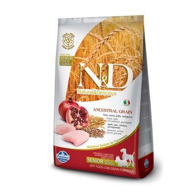 N&D - N&D Senior Düşük Tahıllı Tavuk ve Narlı Yaşlı Köpek Maması 2,5 Kg