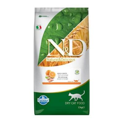 N&D - N&D Tahılsız Balık ve Portakallı Yetişkin Kedi Maması 10 Kg