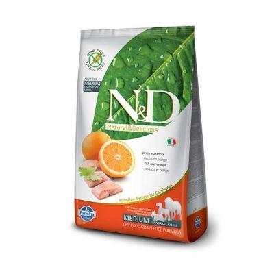 N&D - N&D Tahılsız Balıklı Portakallı Yetişkin Köpek Maması 12 kg