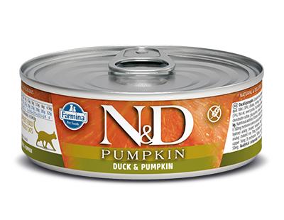 N&D - N&D Tahılsız Balkabaklı Ördek Etli Kedi Konservesi 80 Gr