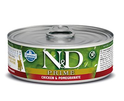 N&D - N&D Tahılsız Tavuklu Narlı Yavru Kedi Konservesi 80 Gr