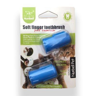 Diğer - Nunbell Kedi Köpek Parmak Diş Fırçası 4 cm 2 Li