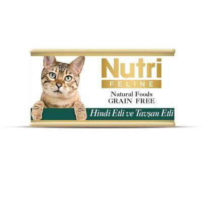 Nutri - Nutri Feline Tahılsız Hindi ve Tavşan Etli Kedi Konservesi 85 Gr