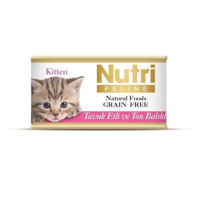 Nutri - Nutri Feline Tahılsız Tavuk Etli Ton Balıklı Kedi Konservesi 85 Gr