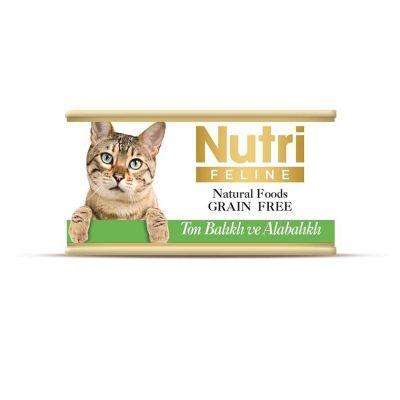 Nutri - Nutri Feline Tahılsız Ton ve Alabalıklı Kedi Konservesi 85 Gr