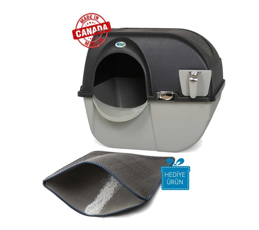 Omega Paw Kendini Temizleyen Elekli Kedi Tuvaleti Siyah 59 x 52 x 53 cm