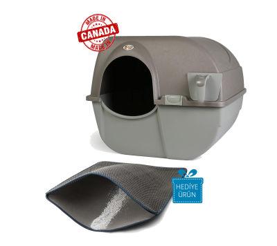 Omega Paw - Omega Paw Kendini Temizleyen Kedi Tuvaleti Kahve 51 x 42 x 43 cm