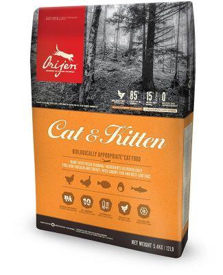 Orijen - Orijen Cat & Kitten Yavru ve Yetişkin Kedi Maması 5.4 Kg