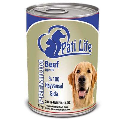 Diğer - Pati Life Biftekli Yetişkin Köpek Konservesi 400 Gr