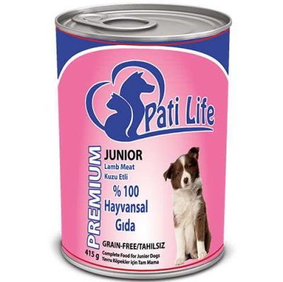 Pati Life - Pati Life Kuzu Etli Yavru Köpek Konservesi 400 Gr