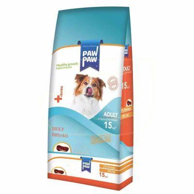 PawPaw - Paw Paw Biftekli Yetişkin Köpek Maması 15 kg