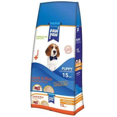 PawPaw - Paw Paw Kuzu Etli Yavru Köpek Maması 15 Kg